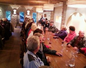 Beim gemütlichen Teil des Abends im Weingut Franz Xaver