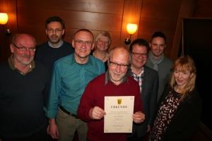Freie Wäler Waldkirch, Jahreshauptversammlung 2015, Vorstandsneuwahl und Ehrung